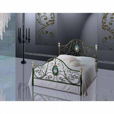 Doppelbett aus Schmiedeeisen Turchese