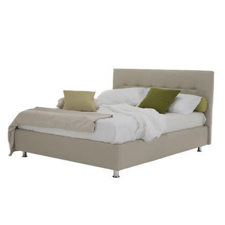 Luxuriöses modernes Doppelbett mit Aufbewahrungsbox Made in Italy - Orfei