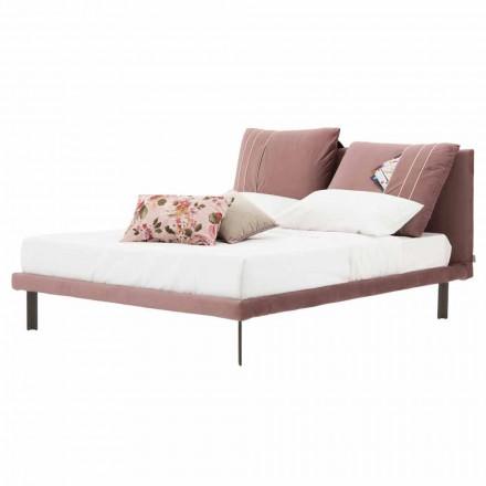 Doppelbett mit abnehmbarem Stoff Made in Italy - Tevio