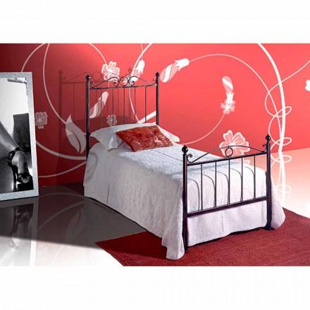 Einzelbett aus Schmiedeeisen Fauno