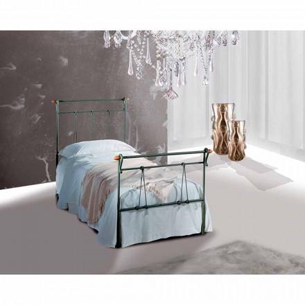 Einzelbett aus Schmiedeeisen Perseo