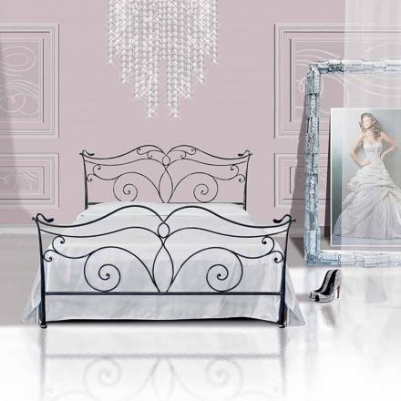 Jugend Queen Size Bett aus Schmiedeeisen Febo