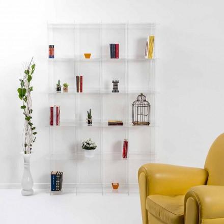 Modernes Bücherregal aus transparentem Plexiglas Sfera4