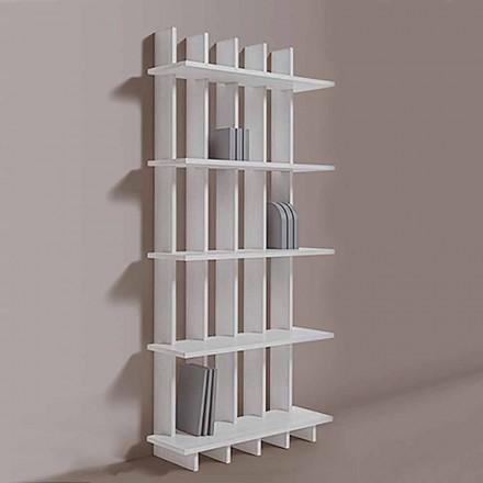 Shabby Chic Wand Bücherregal in Eschenholz von modernem Design - Babele