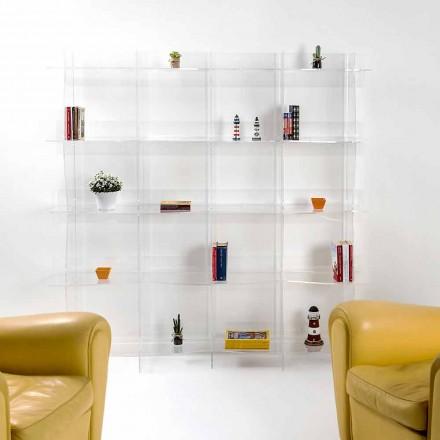 Freistehender Bücherschrank / wandmontiertes modernes Design Pam transparent