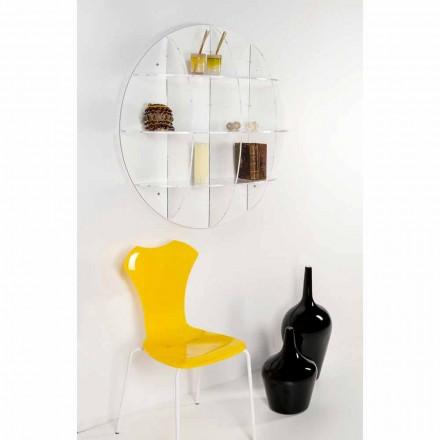 Bücherregal aus weißem Bücherregal Gio mit modernem Design, hergestellt in Italien