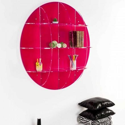Wandregal aus farbigem Plexiglas, hergestellt in Italien, Giofora
