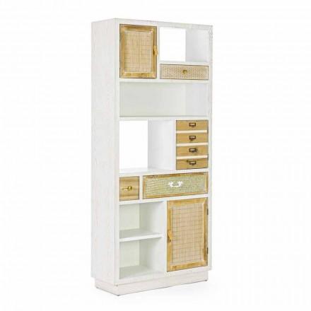 Rustikaler Boden Bücherregal mit Mdf Homemotion Struktur - Moiora