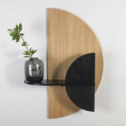 Modulares Regal mit modernem Design aus Eiche und schwarz lackiertem Sperrholz - Arabien