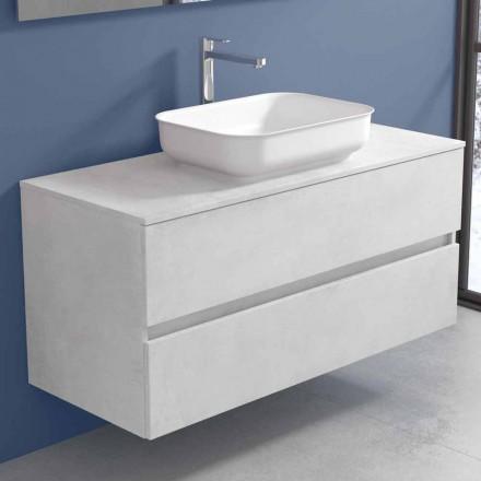 Hängende Badezimmermöbel mit Design-Waschbecken in 4 Ausführungen - Paoletto