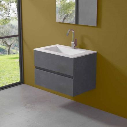 Hängeschrank für Badezimmer mit integriertem Waschbecken in 3 Dimensionen - Marione