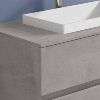 Badezimmerschrank mit eingebautem Waschbecken, modernes hängendes Design - Casimira