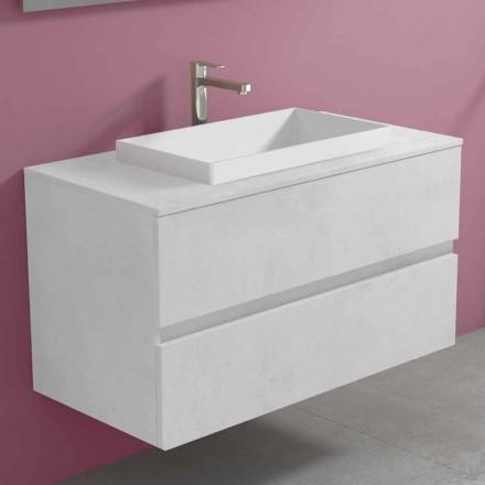Abgehängter Badezimmerschrank mit eingebautem Waschbecken, modernes Design - Casimira