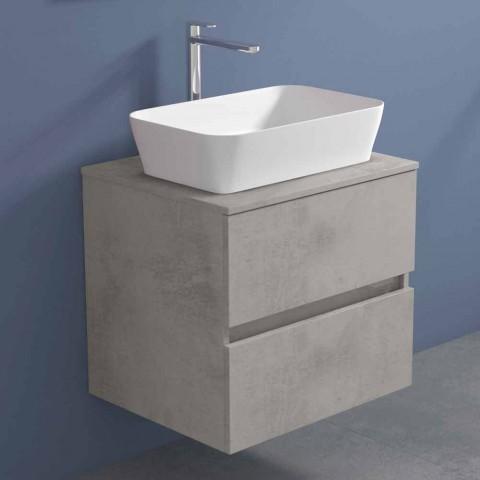 Abgehängter Badezimmerschrank mit rechteckigem Waschtisch, modernes Design - Dumbo