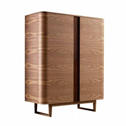 Design Barmöbel aus Massivholz mit 2 Türen Grilli York in Italien hergestellt