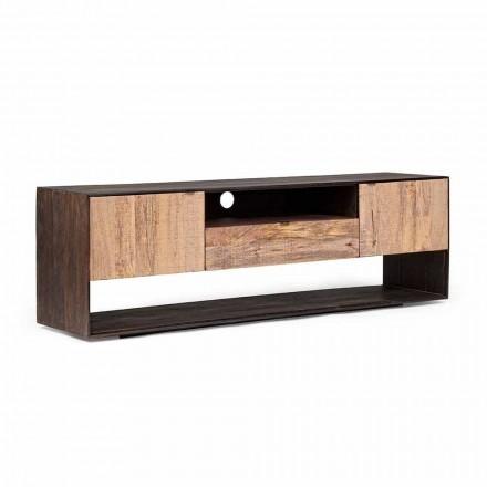 Homemotion TV-Ständer aus Mangoholz und Furnierholz - Amilcare
