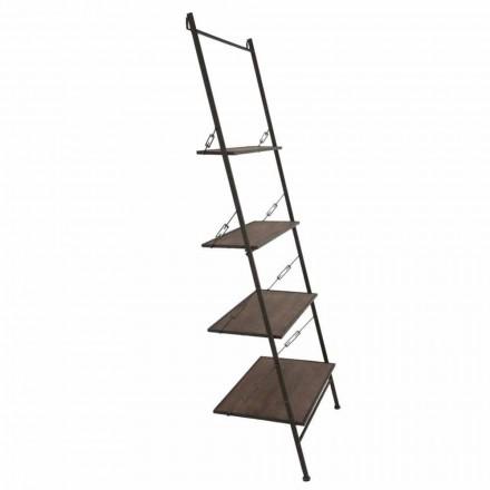 Modernes Design Industriestil Leiterschrank aus Holz und Metall - Denes