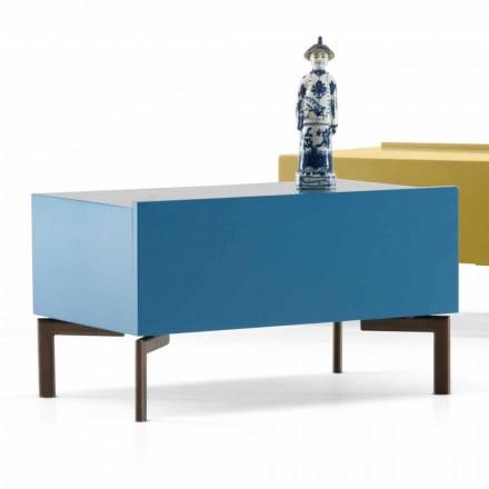 Design-Nachttisch aus MDF-Stahlbeinen My Home Sally made in Italy