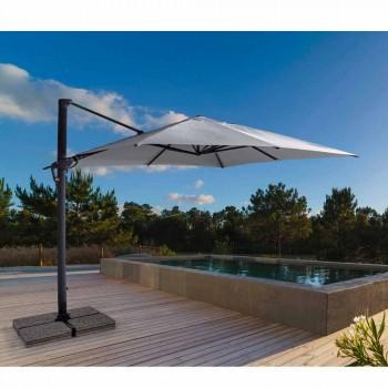 3x3 Sonnenschirm mit hellgrauem Stoff und anthrazitfarbener Struktur - Dalton