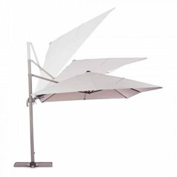 3x4 Sonnenschirm mit sandfarbenem Polyester - Flamingotuch