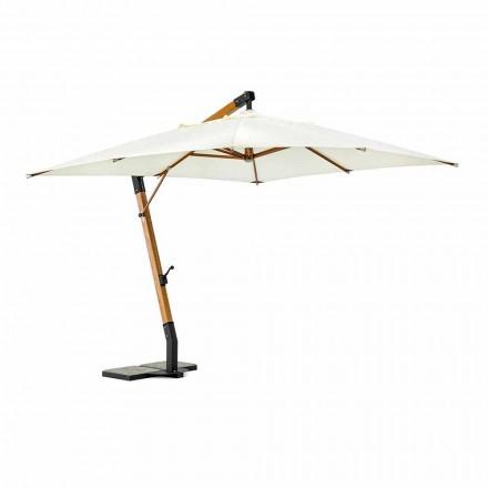 Ecrù Sonnenschirm aus Polyester und Holz 3x3, Homemotion - Passmore