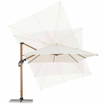 3x4m Gartenschirm aus Aluminium und Polyester, Homemotion - Marco