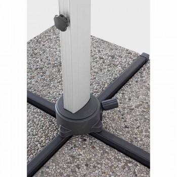 4x4 Gartenschirm mit dunkelgrauem Stoff und eloxierter Struktur - Daniel