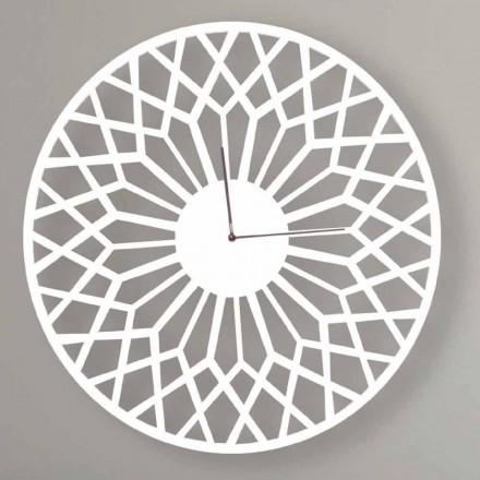 Große und moderne Design Wanduhr aus rundem Holz - Dandalo
