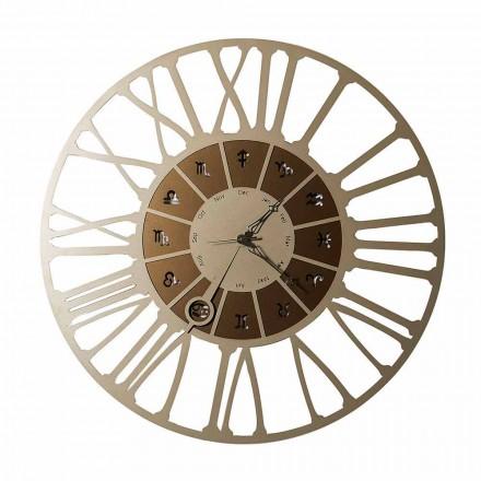 Made in Italy zweifarbige Eisen Design Wanduhr - Steinbock