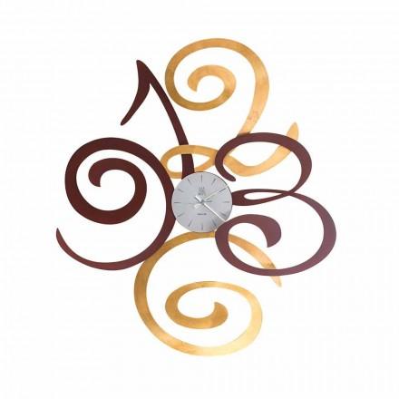 Design Wanduhr aus farbigem Eisen Made in Italy - Fiordaliso