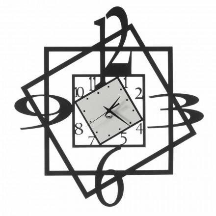 Geometrisches Design der modernen Eisenwanduhr Made in Italy - Procida