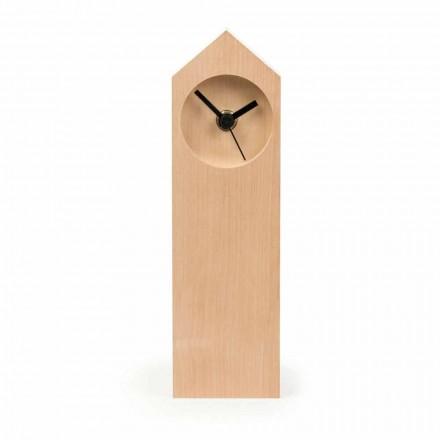 Moderne Tischuhr aus verdampftem Ahornholz Made in Italy - Maple
