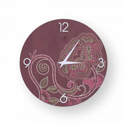 Dolo modernes Design verzierte hölzerne Uhr, hergestellt in Italien