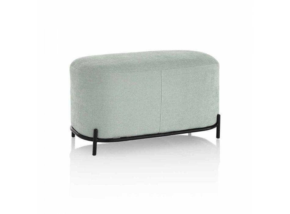 Bank für Wohnzimmer oder Schlafzimmer in mintgrünem Designstoff - Ambrogia
