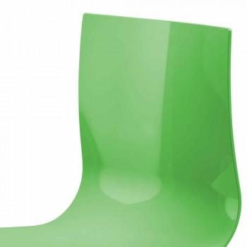 2-Sitzer-Bürobank mit Couchtisch aus Stahl und farbigem Technopolymer - Verenza