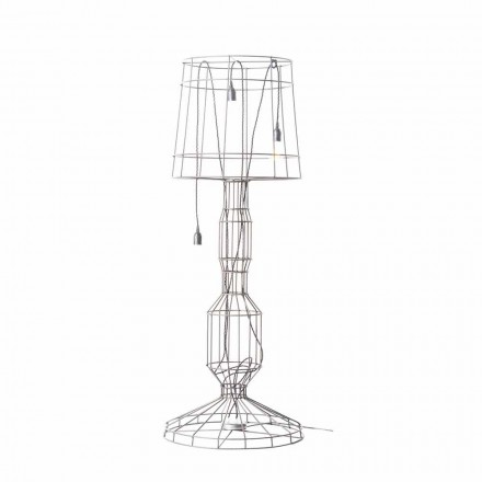 Wohnzimmer Stehlampe 3 Lichter in Weiß oder Naturmetall Minimal Style - Styling