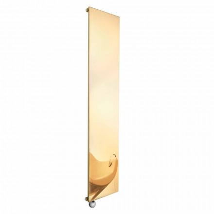Vertikale elektrische Strahlungsplatte in Gold Modernes Design bis 1000 W - Eis