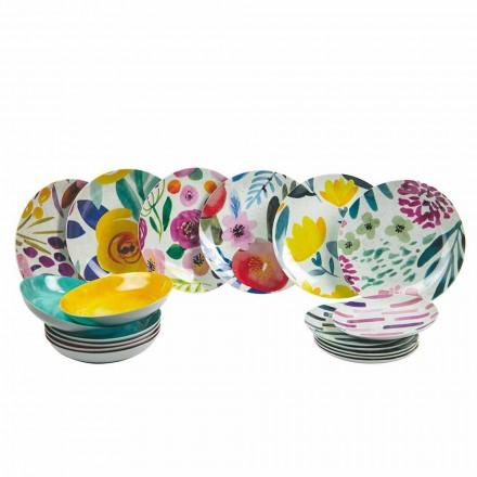 Farbige Design-Tischplatten aus Steinzeug und Porzellan 18 Stück - Tintarello