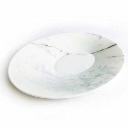 Moderne Herzplatte Platte aus weißem Carrara-Marmor Made in Italy - Miccio