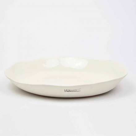 Italienische Luxus weiße Porzellan Runde Servierteller - Arcimaesta