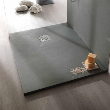 Duschwanne 120x90 Modernes Design in Resin Concrete Effect Finish - Cupio