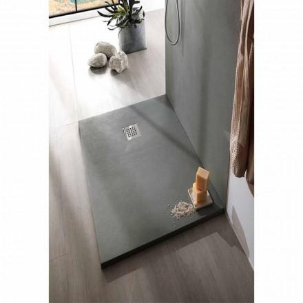 Duschwanne 140x70 cm in Weiß oder Grau - Cupio Concrete Effect Resin