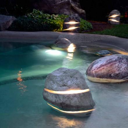 Steinlampe für Unterwasser Led Twice, Einzelstück