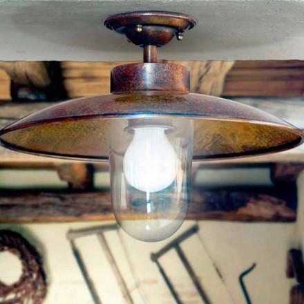 Deckenlampe aus Kupfer und Glas Nabucco von Aldo Bernardi