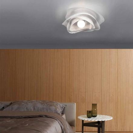 Moderne Deckenlampe mit weißem Kronleuchterschirm 40 cm, Antalya