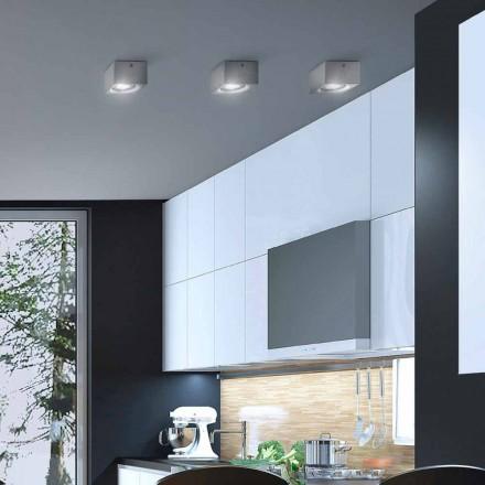 Deckenlampe viereckig Beton oder Gips Nadir Aldo Bernardi