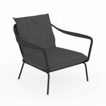 Modernes Design Outdoor-Sessel aus Aluminium und Stoff - Cruise Alu Talenti