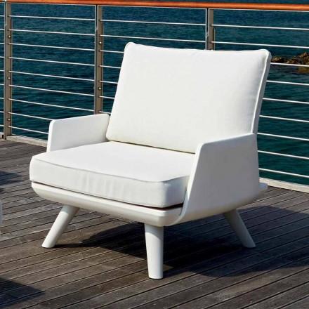 Gepolsterter Outdoor-Sessel in weißem und modernem Design - Samurai von Myyour