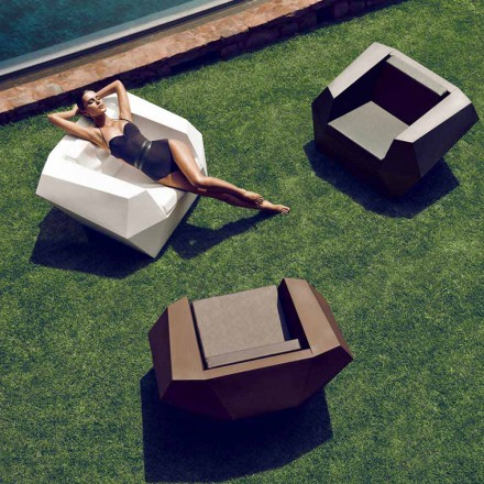 Outdoor-Sessel in modernem Design aus Polyethylen, Faz von Vondom