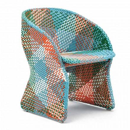 Gartensessel aus farbig geflochtener Kunstfaser - Maat von Varaschin